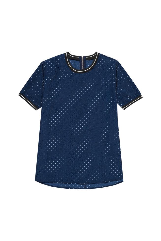 BLOUSE L-KO-2826 NAVY