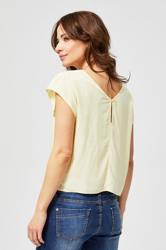BLOUSE L-KO-2858 YELLOW