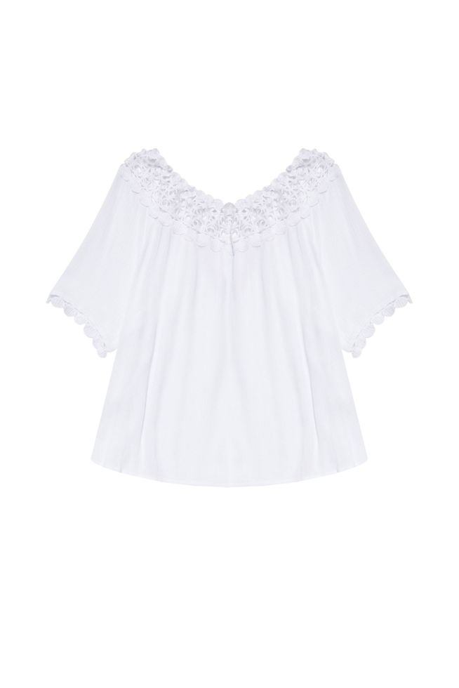 BLOUSE L-KO-3144 WHITE-SET