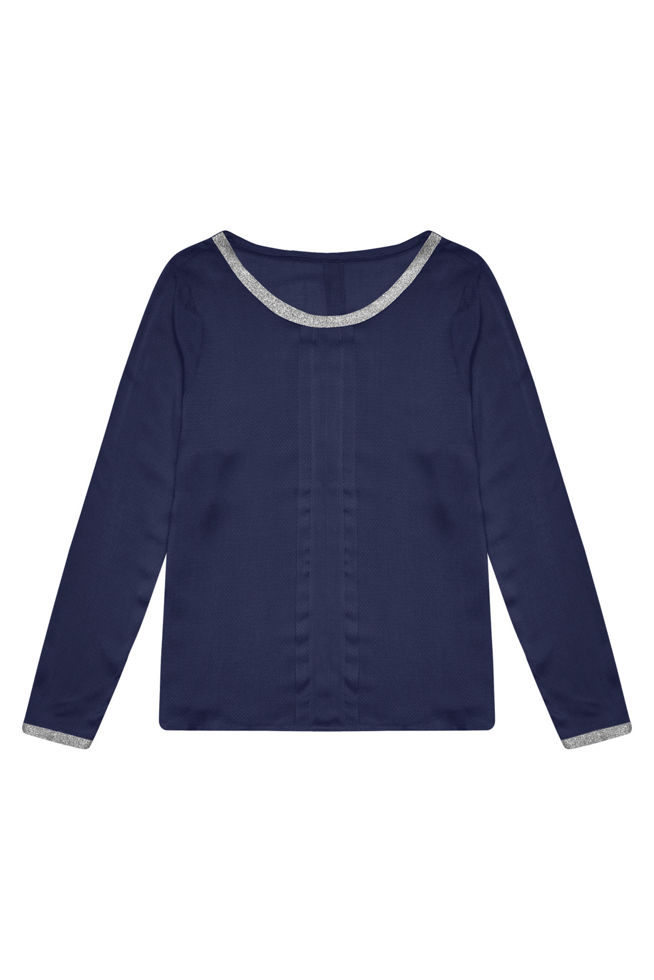 BLOUSE Z-KO-3031 NAVY