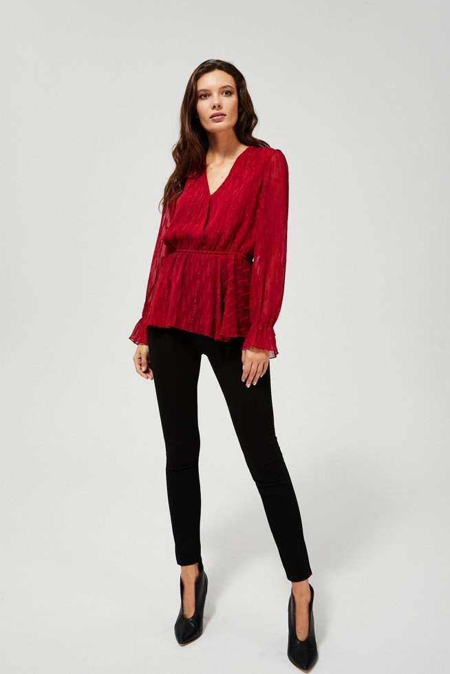 BLOUSE Z-KO-3376 D.RED