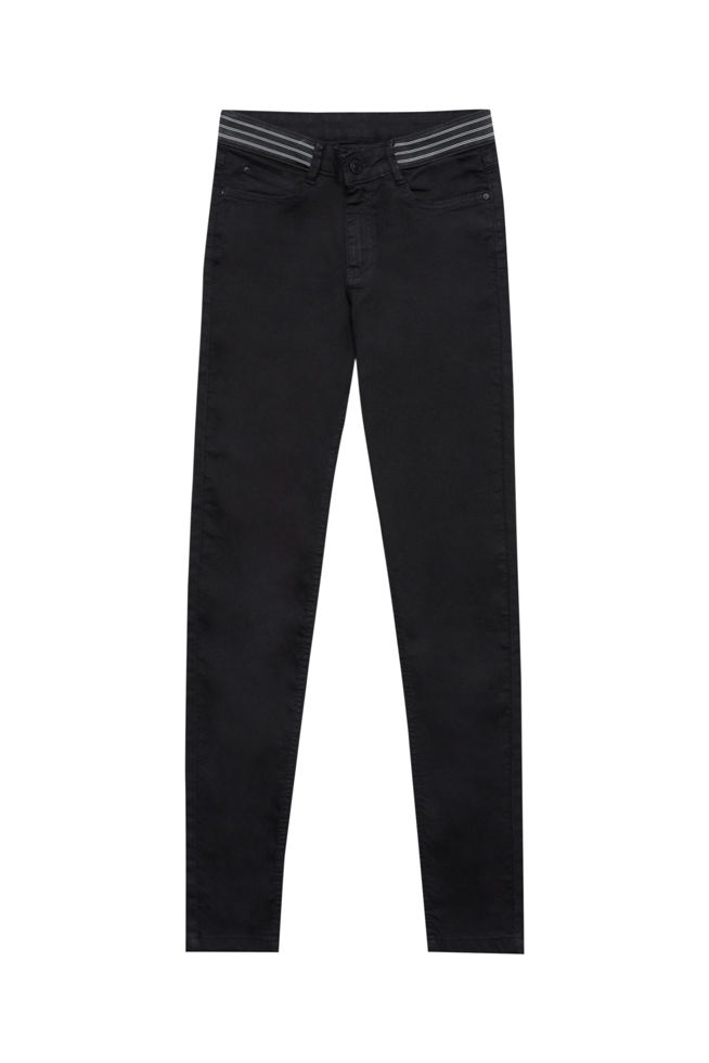 JEANS TROUSERS L-JE-2802 BLACK