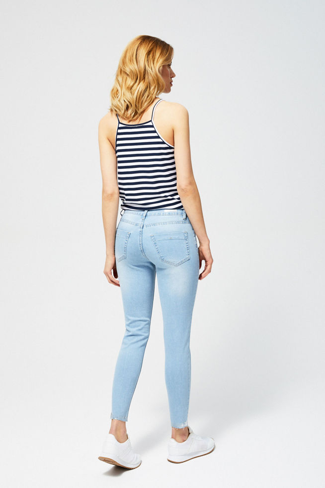 JEANS TROUSERS L-JE-2807 L.BLUE