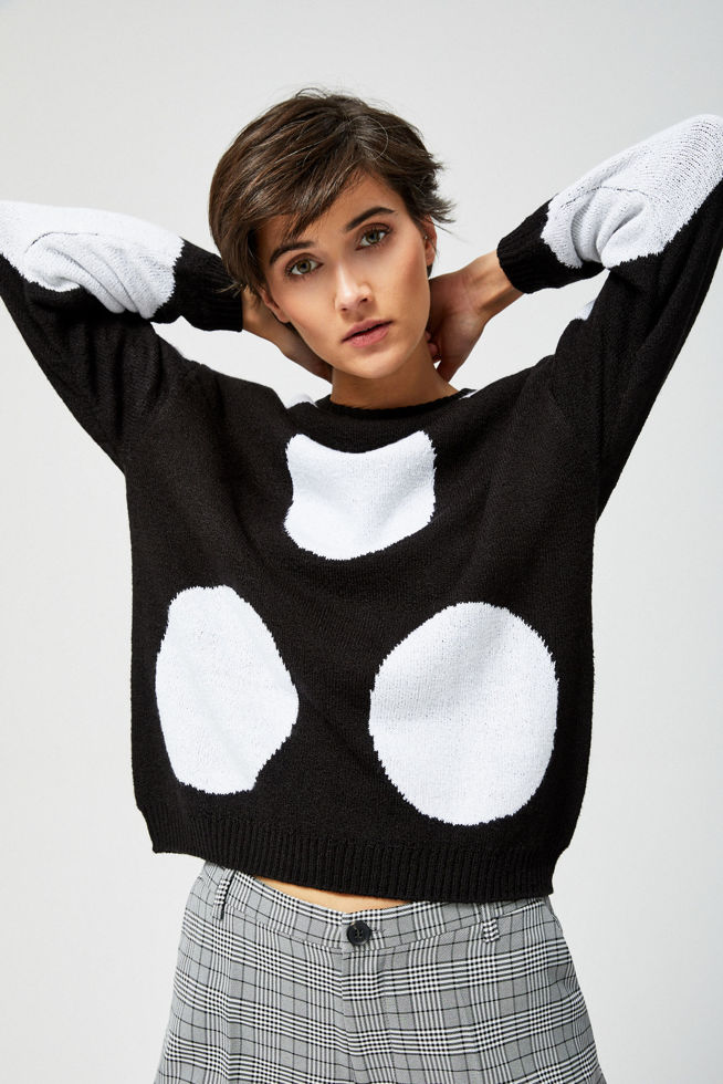 SWEATER L-SW-2804 BLACK_WHITE