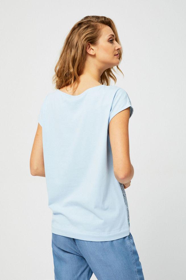 T-SHIRT L-TS-2838 L.BLUE