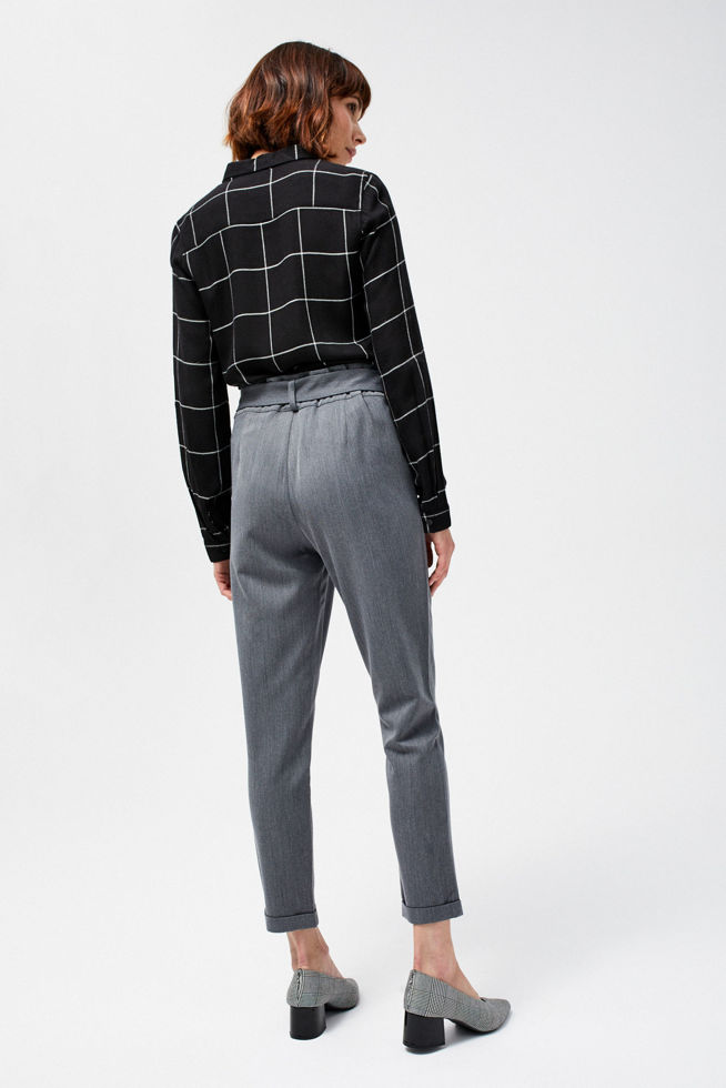 TROUSERS L-SP-2806 GREY