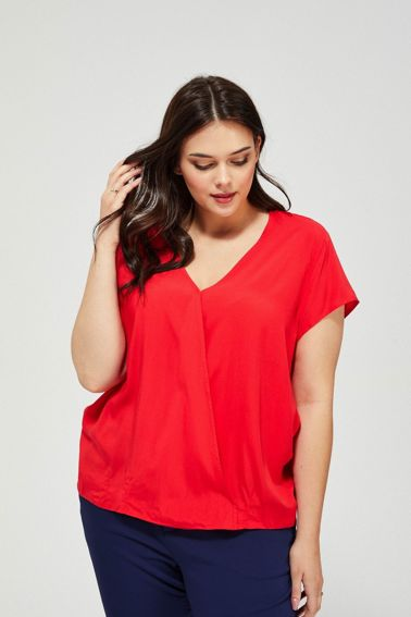 BLOUSE L-KO-3163 RED-SET