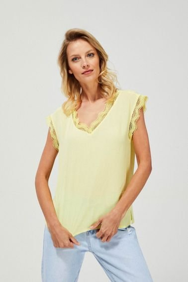 BLOUSE L-KO-3177 YELLOW