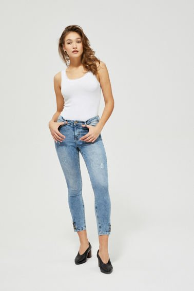 JEANS TROUSERS L-JE-3101 L.BLUE