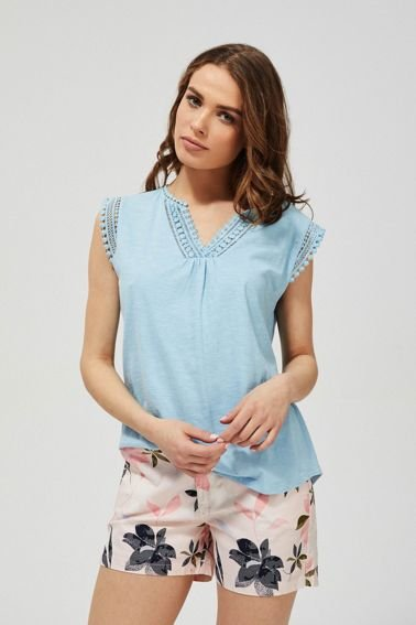 SHIRT L-TS-3184 L.BLUE-SET