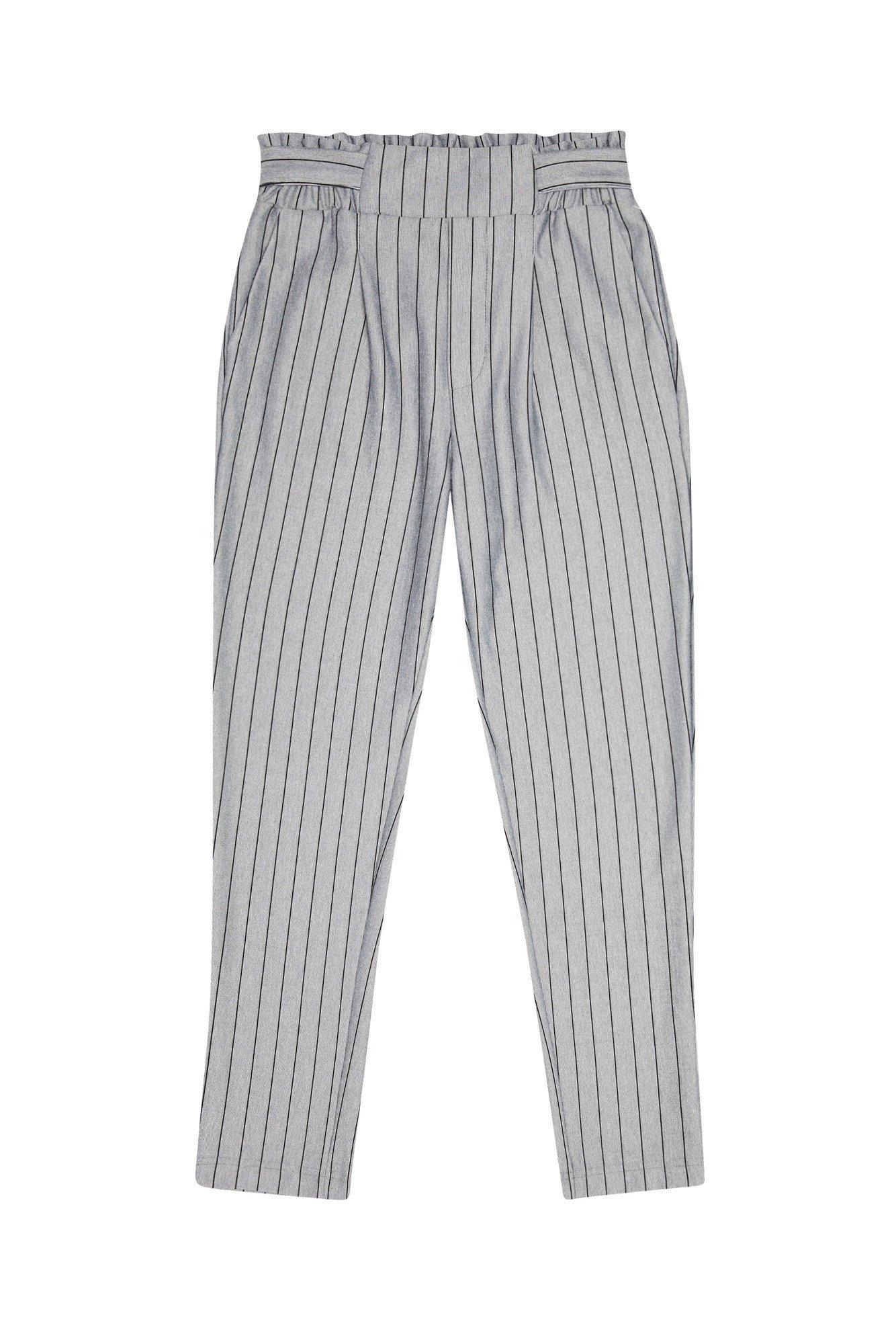 Luźne spodnie z marszczeniem i wiązaniem w pasie L SP 3103