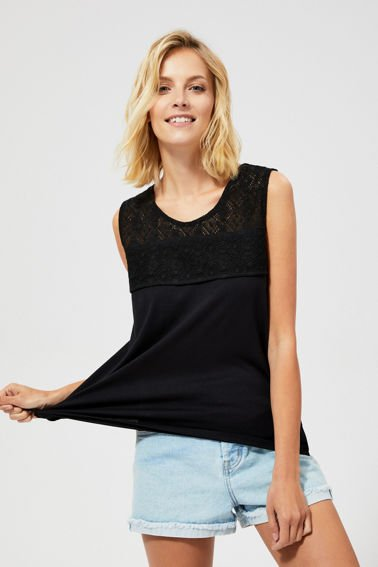 Top z koronką L-TS-2944 BLACK